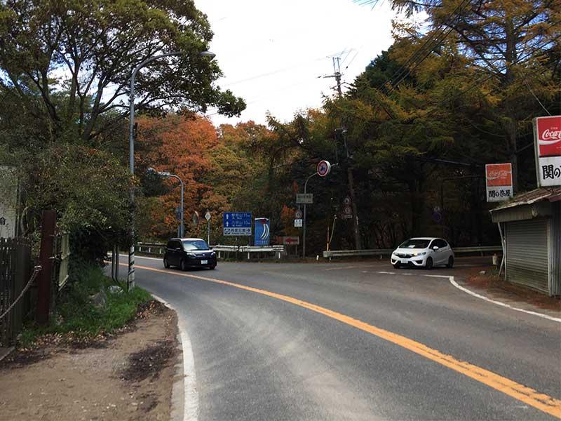 関の茶屋の五辻交差点